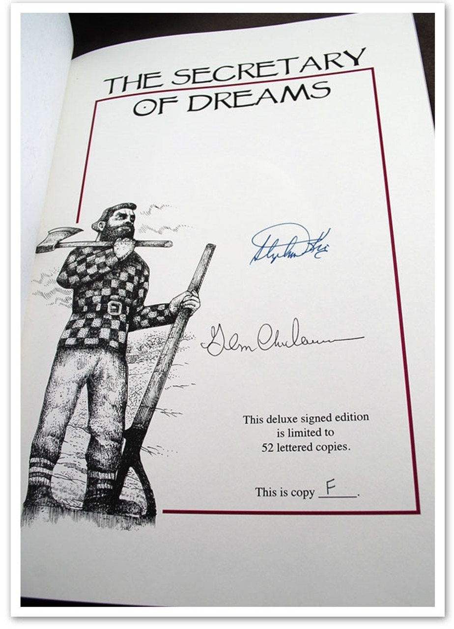 """Stephen King """"Secretary of Dreams"""" Signed Lettered Deluxe Edition, 2 Vol. Matched Set, Artist Remarqued w/Traycase [Very Fine]"""