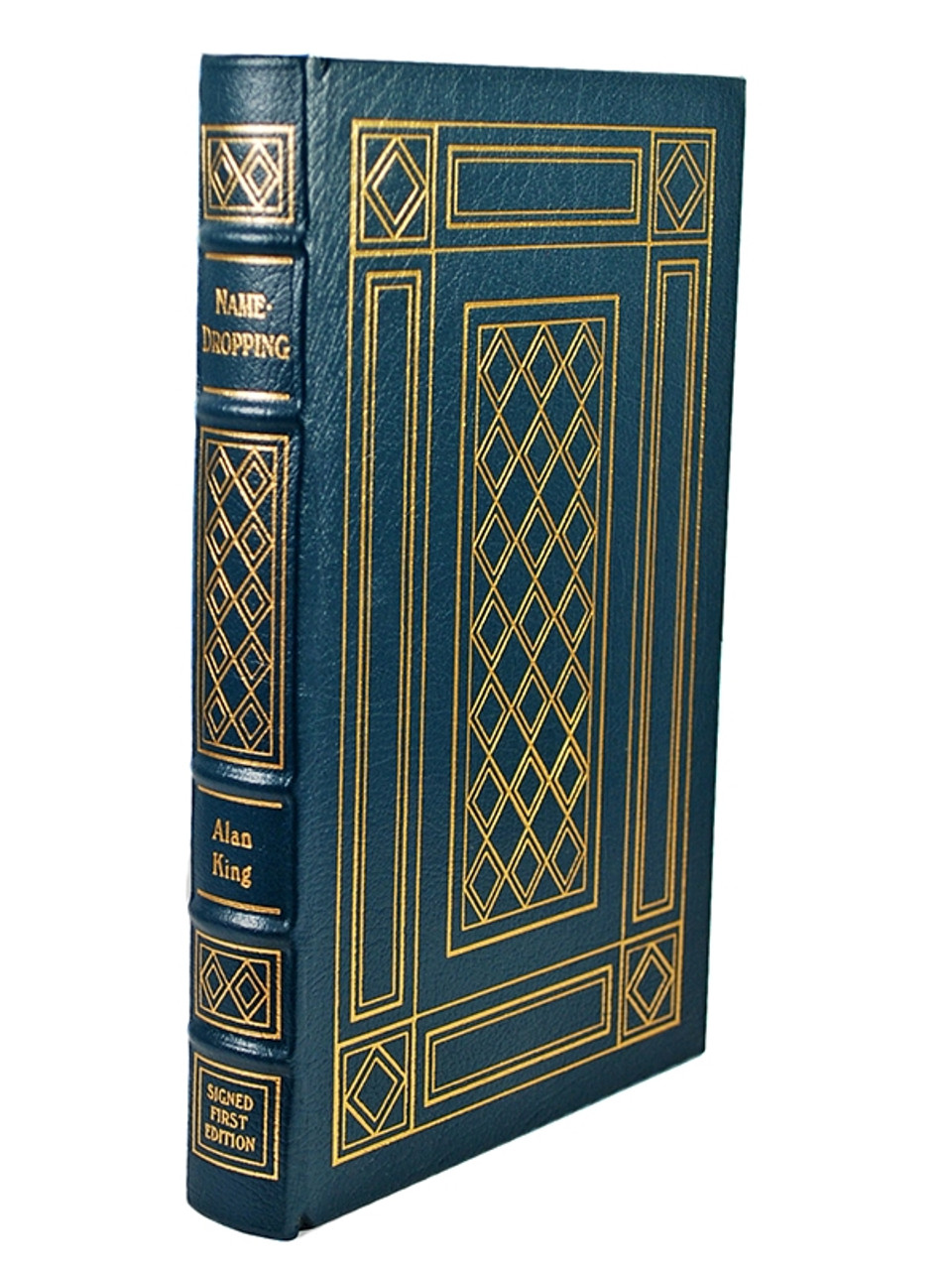 """Easton Press, Alan King """"Name-Dropping""""  Signed First Edition, Leather Bound Collector's Edition"""