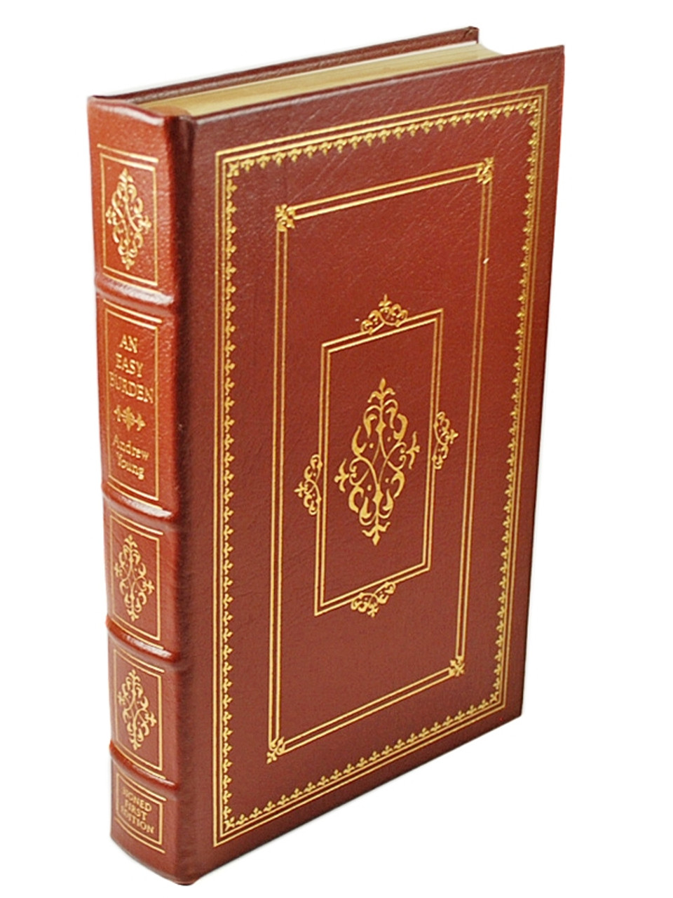 Easton Press Andrew Young An Easy Burden Signed First Edition Leather Bound Book