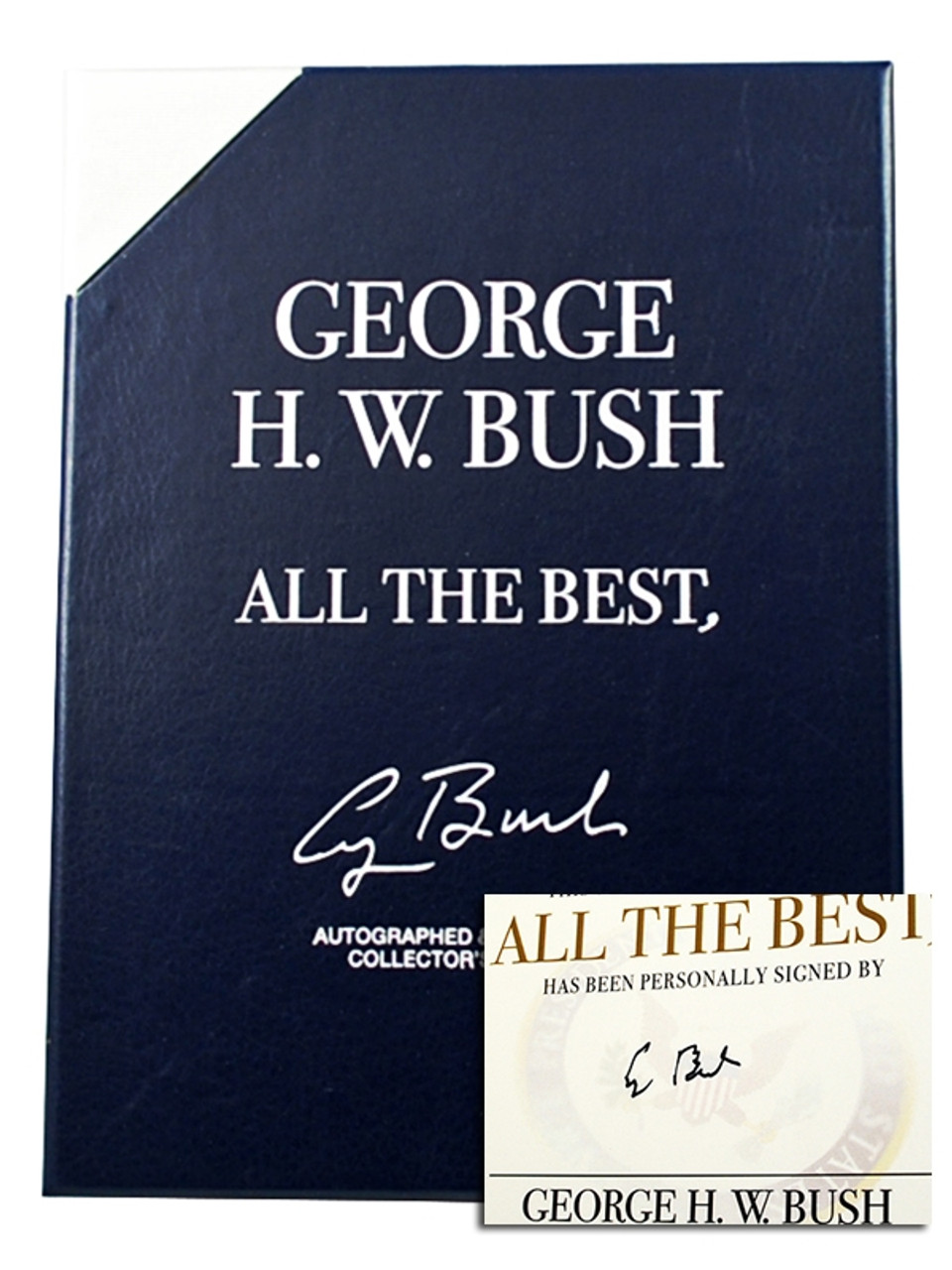 "George HW Bush ""All The Best, George Bush"" Signed Limited Edition of only 1,000 with COA"