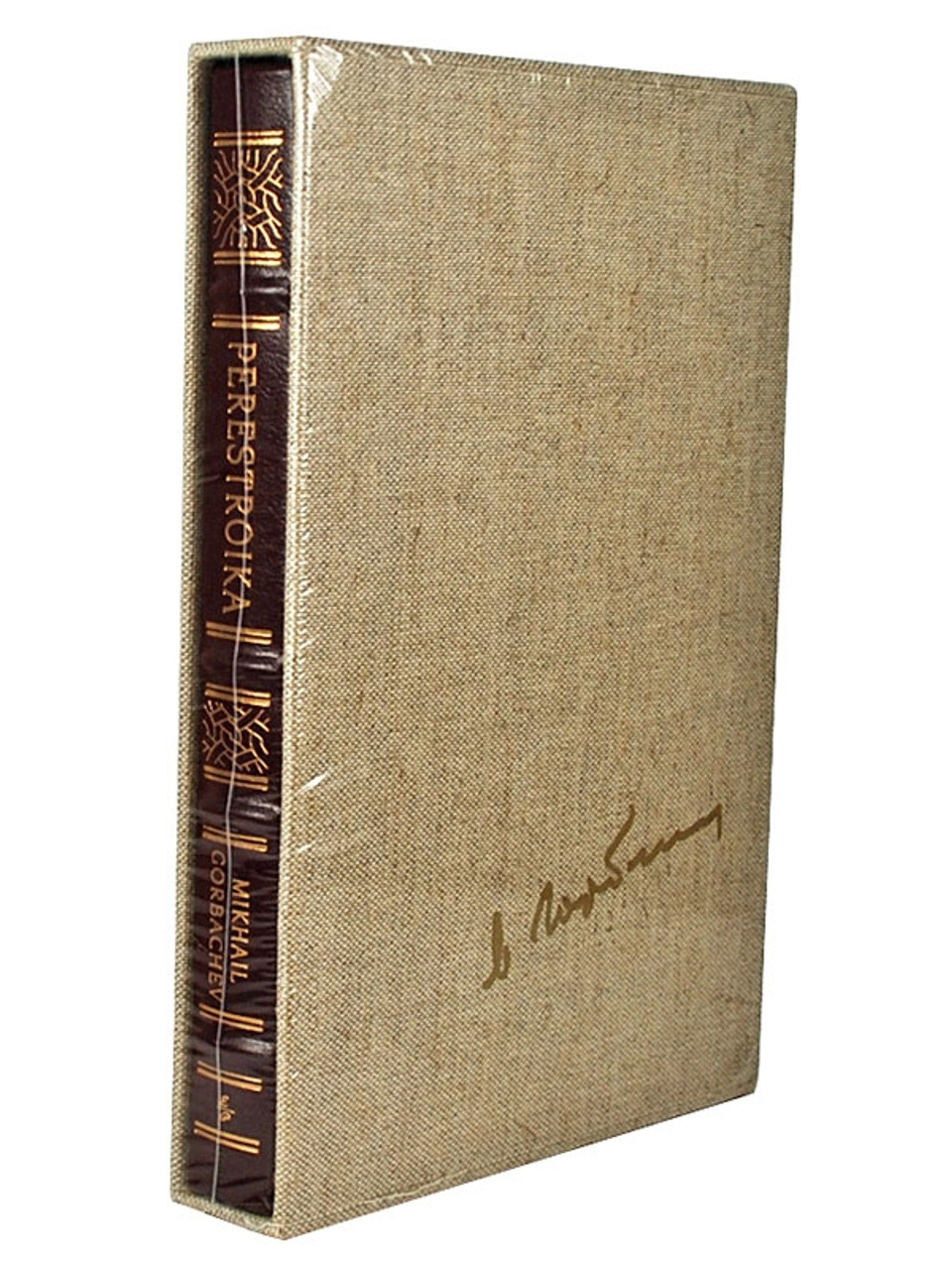 """Easton Press, Mikhail Gorbachev """"PERESTROIKA"""" Signed Limited Edition of only 250"""