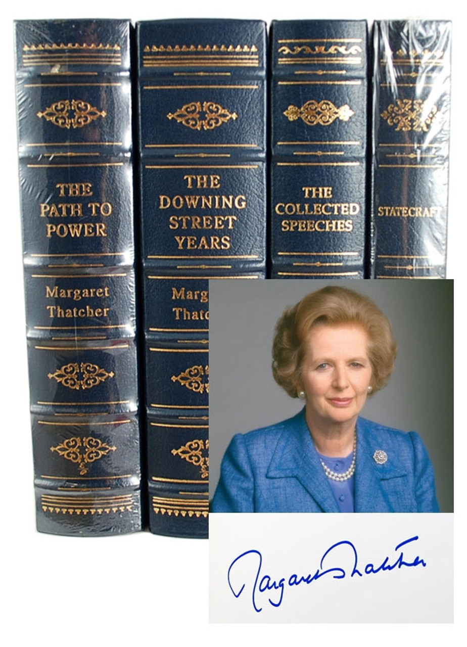 """Easton Press, Lady Margaret Thatcher """"The Path to Power"""" Signed First Edition  #81/3,000"""