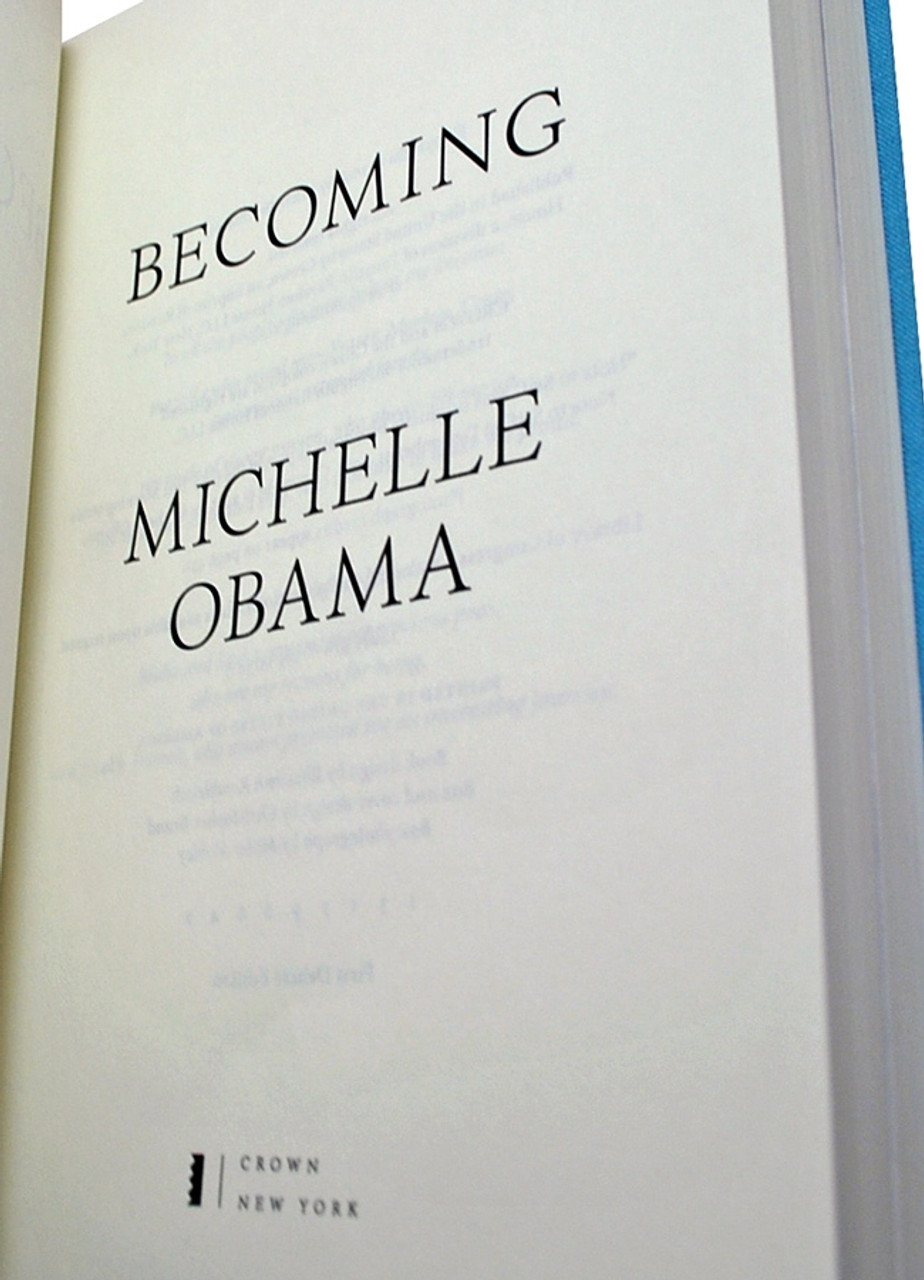 "Michelle Obama ""Becoming"" Signed First Edition, First Printing [Very Fine]"