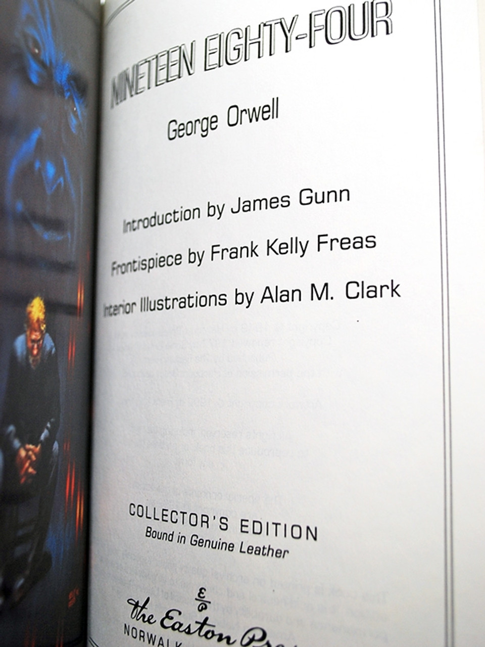 """George Orwell """"Nineteen Eighty-Four"""" Leather Bound Collector's Edition [Very Fine]"""