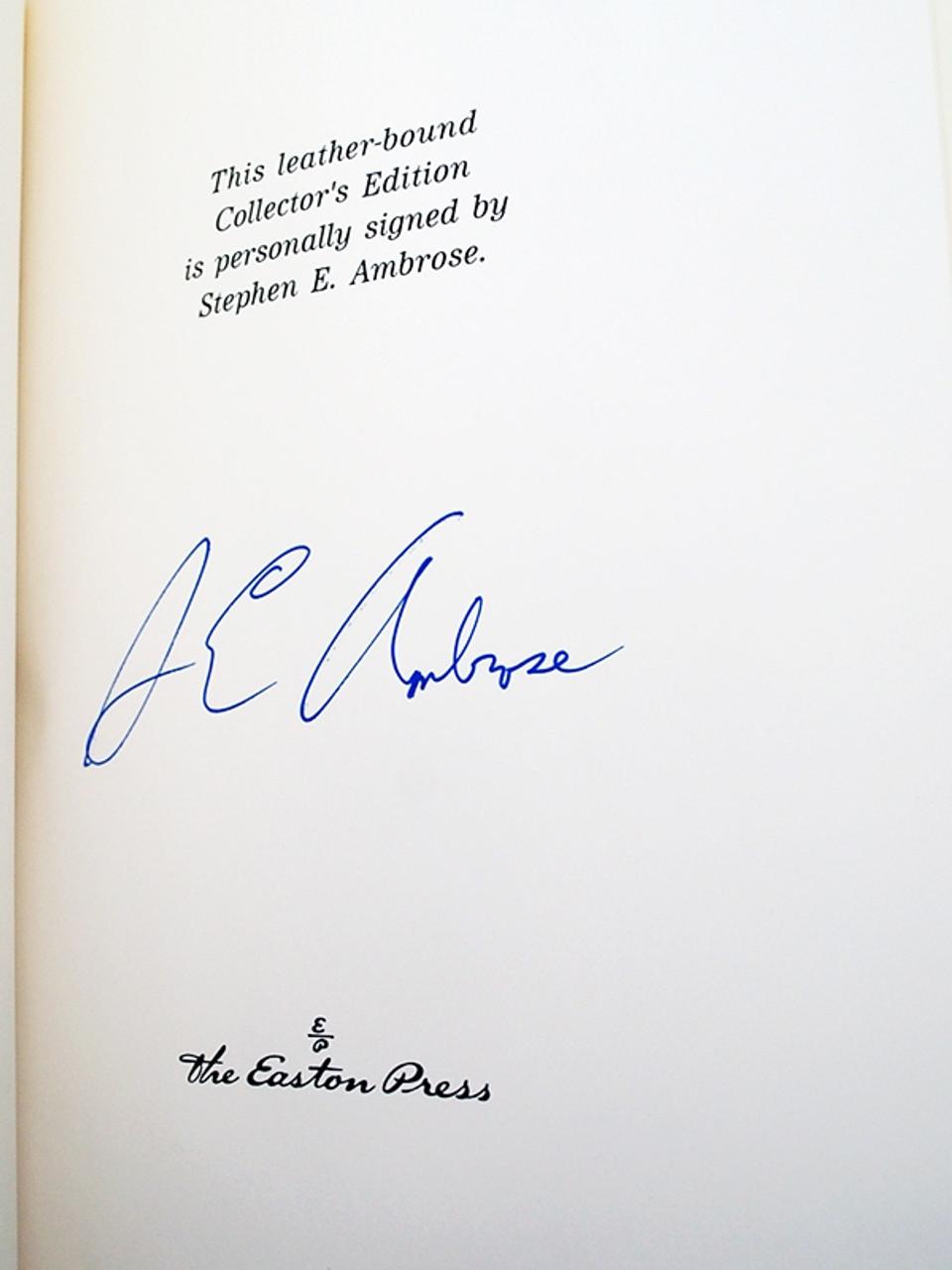 Easton Press Stephen E. Ambrose Undaunted Courage Signed Limited Edition
