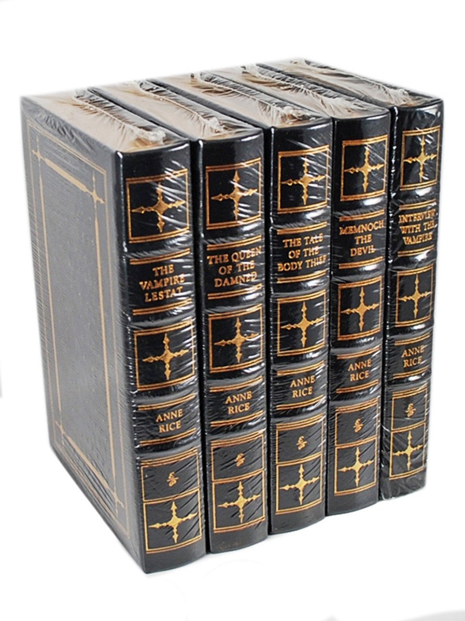"""Easton Press, Anne Rice """"The Vampire Chronicles"""" Signed Limited Edition, 5 Vol. Complete Matched Set [Sealed]"""