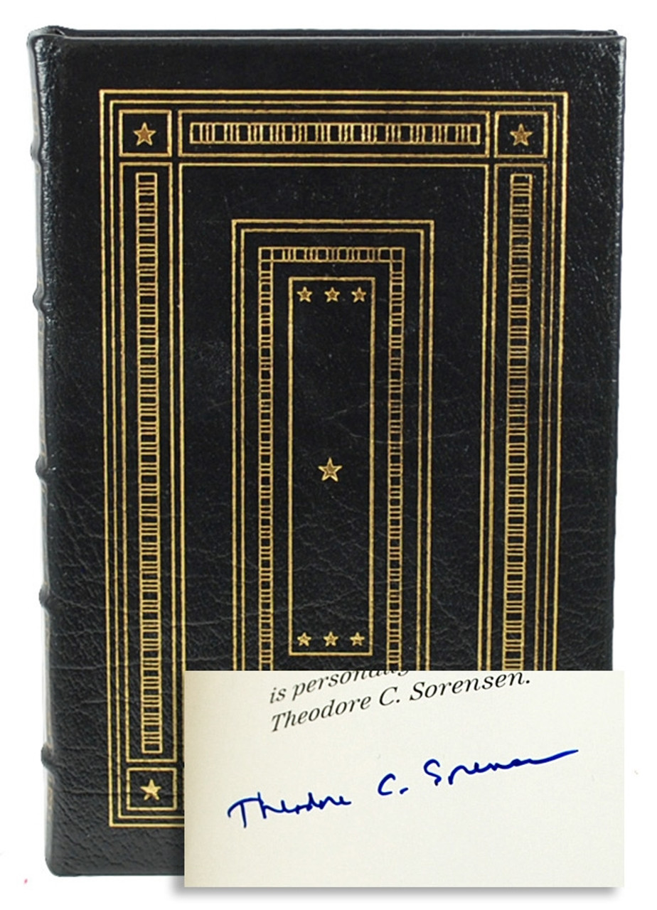 Easton Press Theodore Sorensen Why I Am a  Democrat Signed First Edition Leather Bound Book