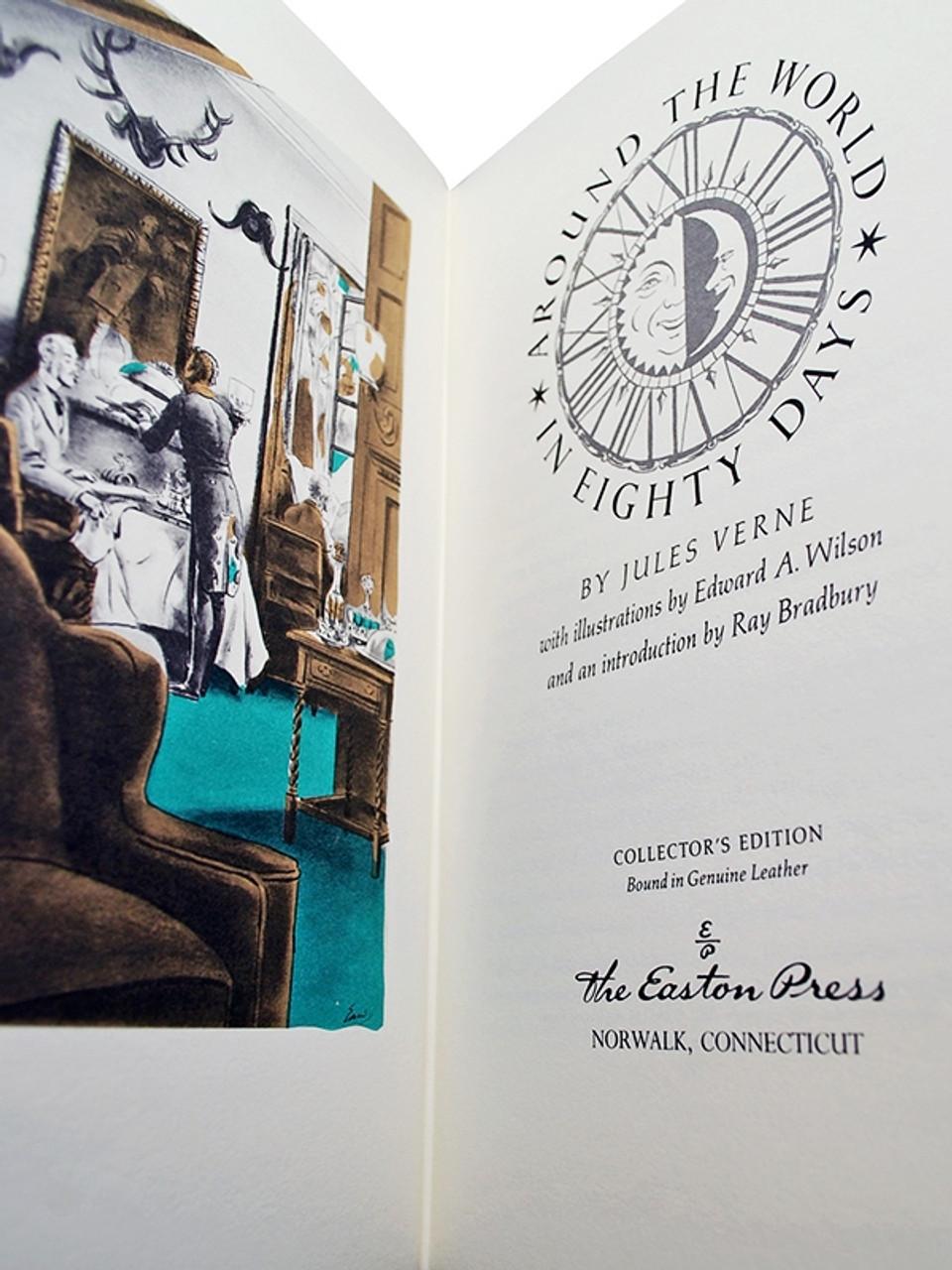 Easton Press, Jules Verne Trilogy, Complete Matching Leather Bound Collector's Set, 3 Vols. [Sealed]