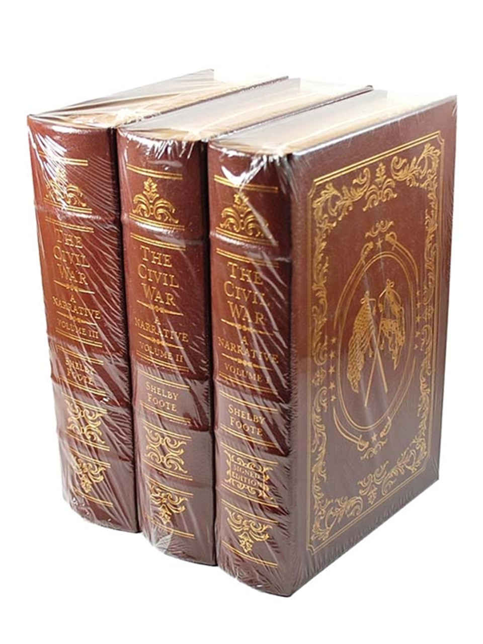 "Easton Press, Shelby Foote ""THE CIVIL WAR: A NARRATIVE"" Signed Limited Edition, Leather bound"