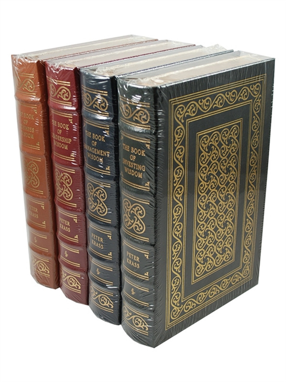 """Easton Press """"The Books of Wisdom"""" Peter Krass, 4 Leather Bound Volumes - Sealed"""