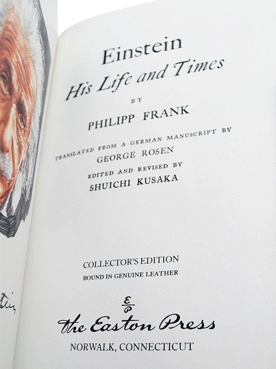"""Philipp Frank """"Einstein His Life And Times"""" Leather Bound Collector's Edition"""