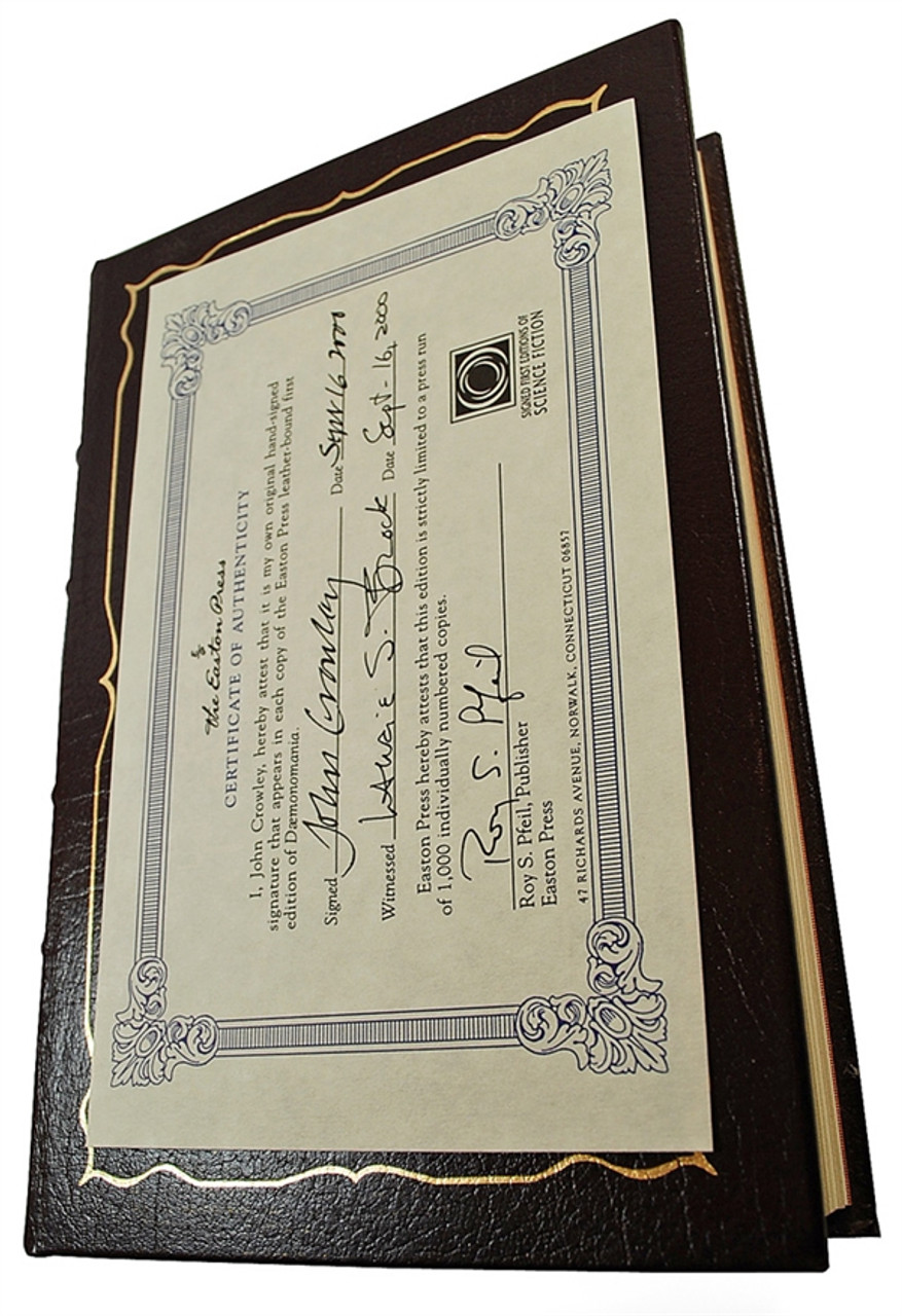 """John Crowley """"Daemonomania"""" Leather Bound Signed First Edition w/COA"""