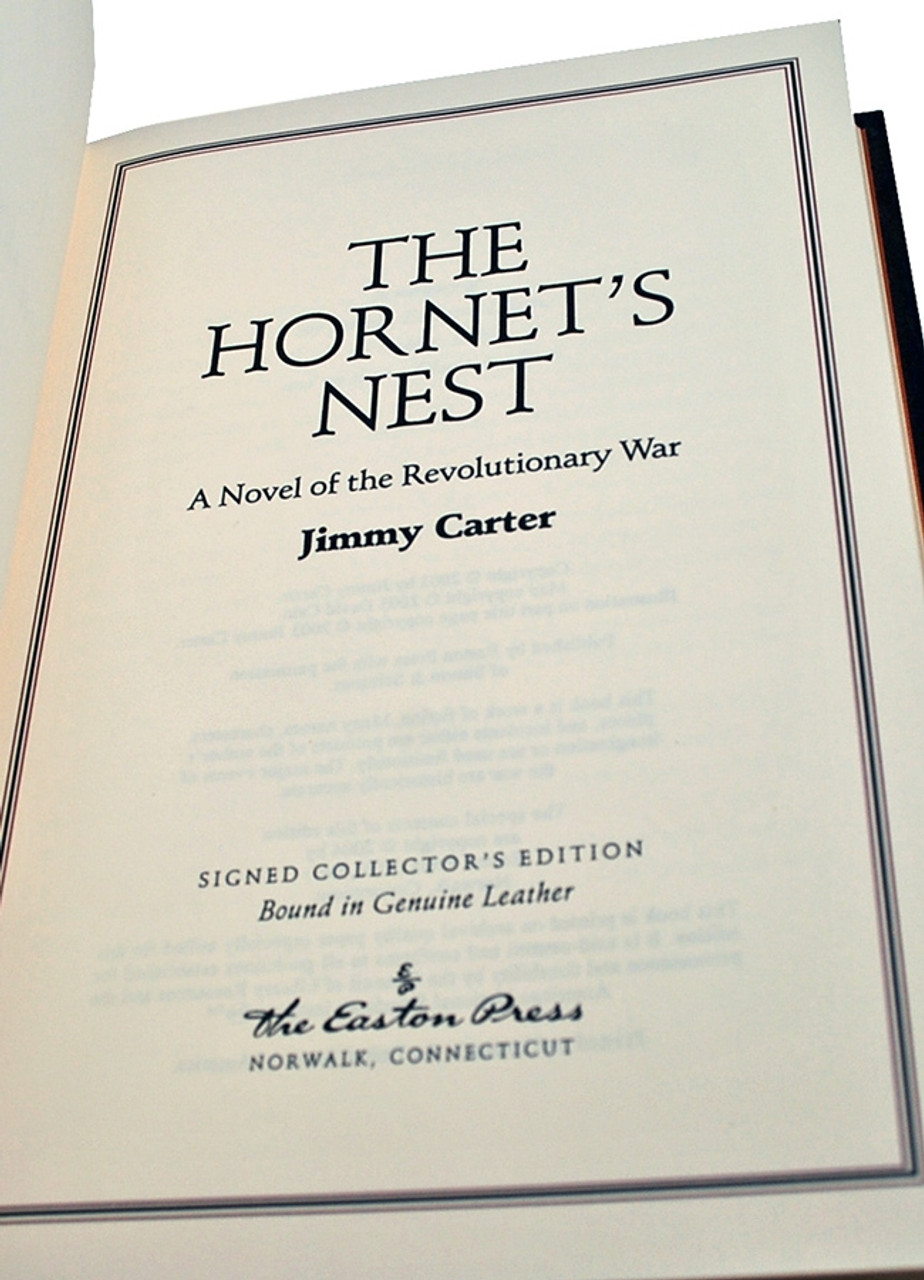 "Easton Press, Jimmy Carter ""The Hornet's Nest"" Signed Limited Edition w/COA [Sealed]"