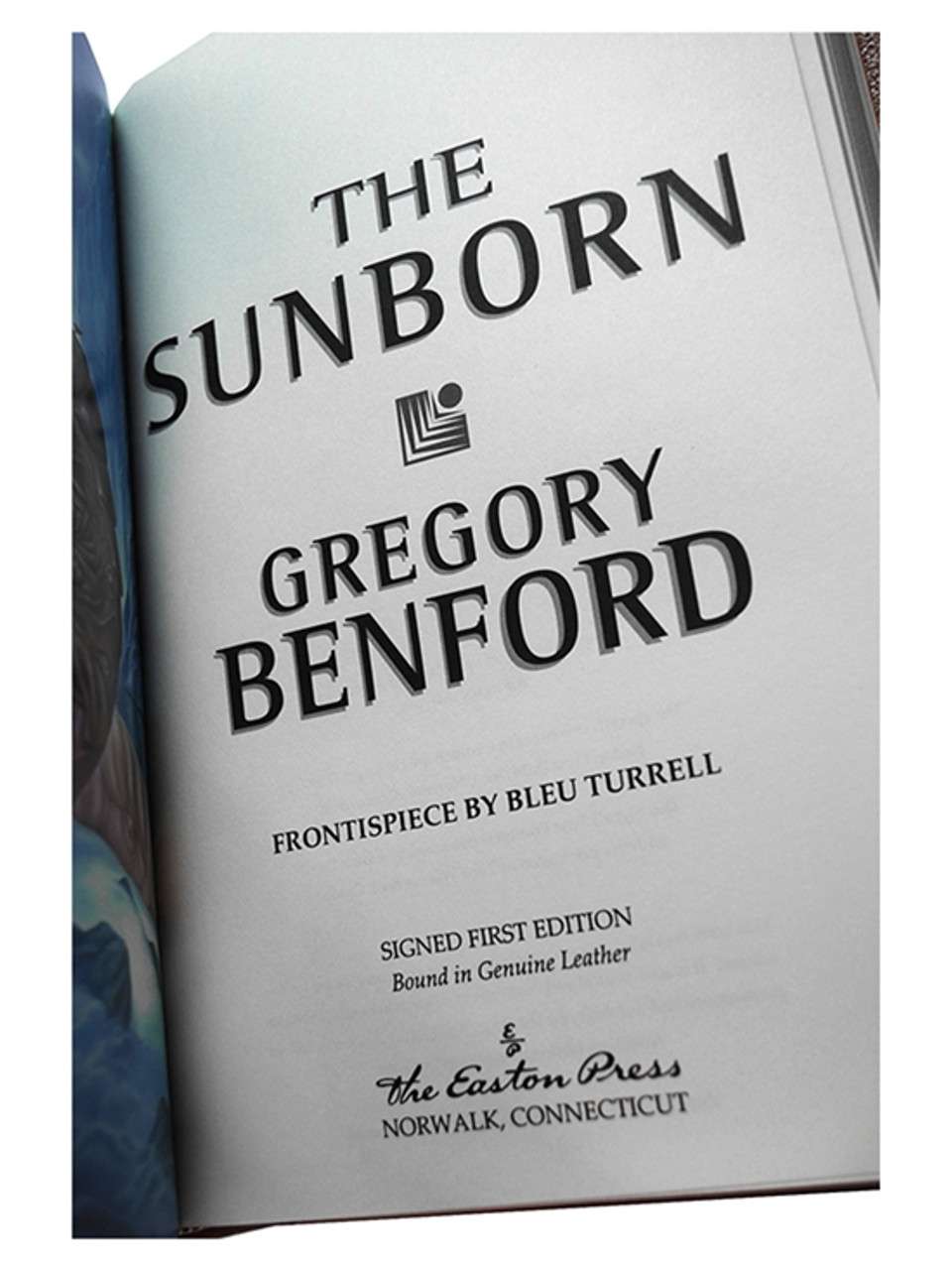 """Easton Press """"The Sunborn"""" Gregory Benford, Signed First Edition, #111 of 900, Leather Bound [Very Fine]"""