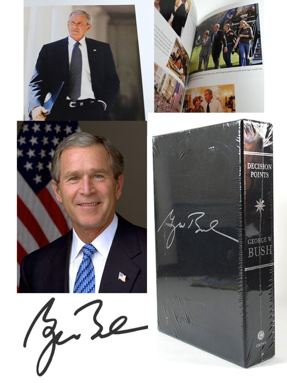 """George W. Bush """"Decision Points"""" Signed Limited Deluxe Edition (Sealed)"""