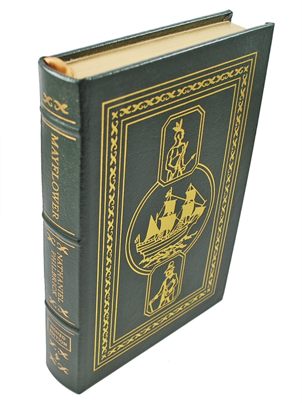 """Easton Press, Nathaniel Philbrick """"Mayflower"""" Signed Limited Edition, Leather Bound Collector's Edition w/COA [Sealed]"""