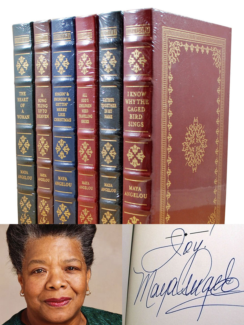 "Easton Press ""The Maya Angelou Collection"" Signed Limited Edition, 6 Volume Matching Collector's Set  [Sealed]"
