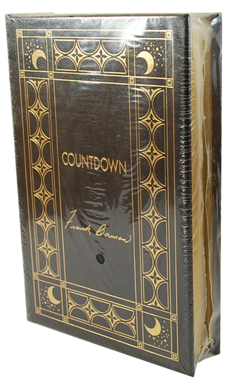 """Easton Press """"Countdown"""" Frank Borman, Signed Limited Edition Leather [Sealed]"""