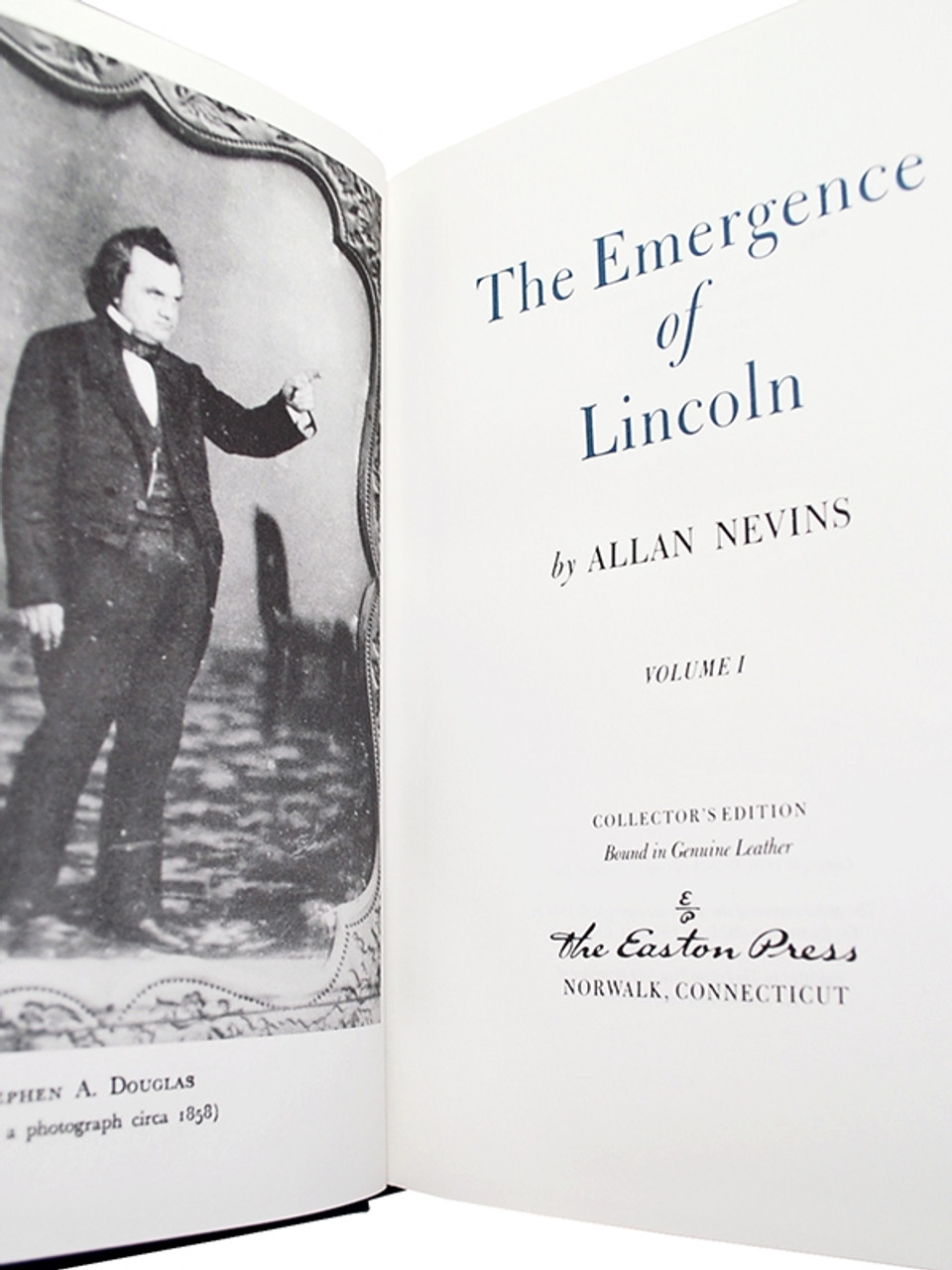 """Easton Press """"The Emergence Of Lincoln"""" Allan Nevins, Leather Bound Collector's Edition,"""