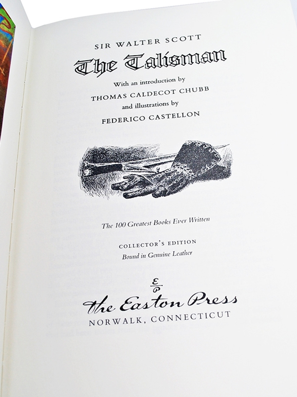 """Easton Press, Sir Walter Scott """"The Talisman"""" Leather Bound Collector's Edition"""