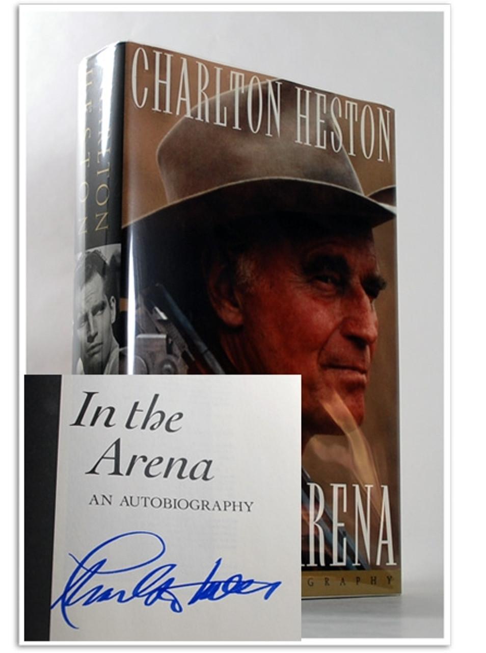 "Simon & Schuster ""In the Arena"" Charlton Heston, Signed First Edition, dj/HC [Fine/Fine]"