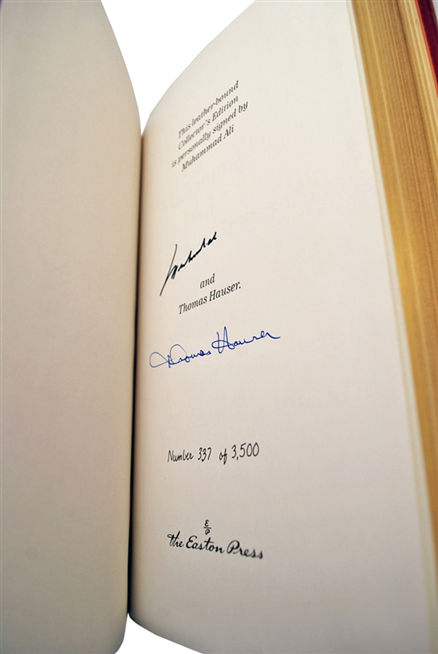 """Easton Press, Muhammad Ali & Thomas Hauser, """"Muhammad Ali, His Life and Times"""" Signed Limited Edition, Sealed"""