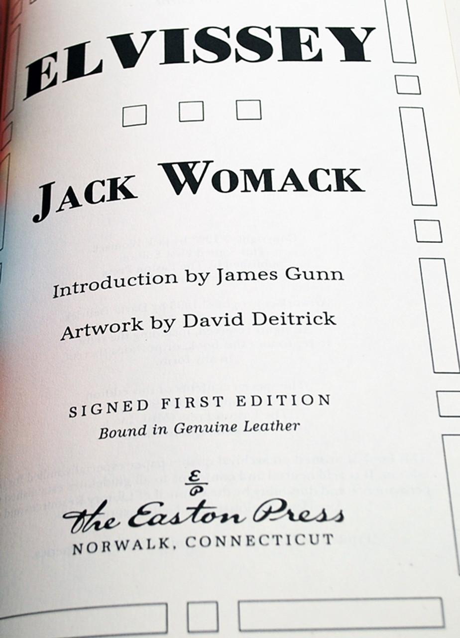 "Easton Press Jack Womack ""Elvissey"" Easton Press Signed First Edition leather bound"