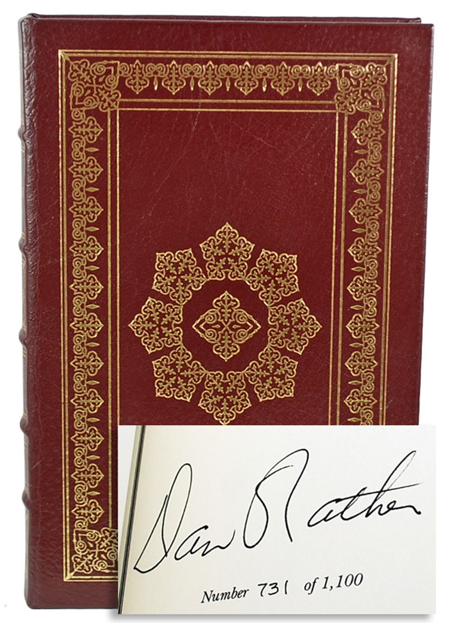 Easton Press Dan Rather American Dream Signed Limited Edition Leather Bound Book