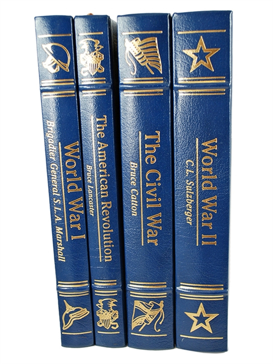 """Easton Press """"The American Heritage Picture History of War"""" 4 Volume Matching Set, Leather Bound Limited Collector's Edition [Very Fine]"""
