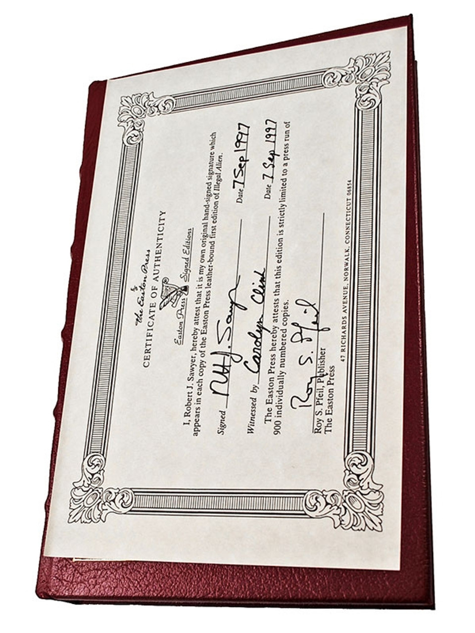 """Robert J. Sawyer """"Illegal Alien"""" Signed First Edition, Leather Bound Collector's Edition w/COA"""