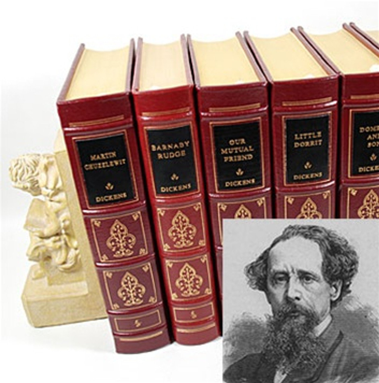 """Easton Press """"The Works of Charles Dickens"""" Volume Matching Set"""
