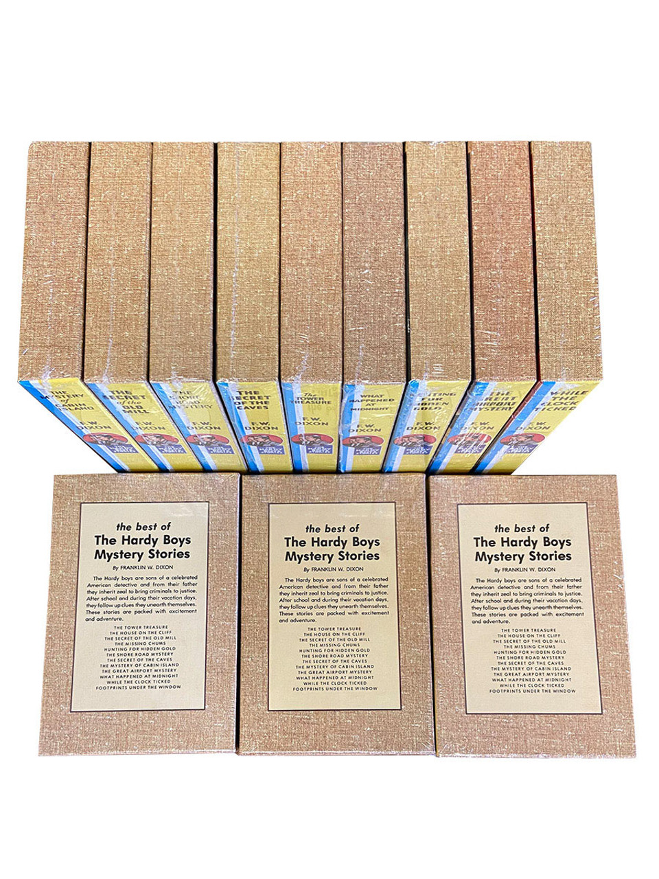 """Franklin W. Dixon """"The Hardy Boys"""" Leather Bound Limited Edition, 12 Vol. Complete Matching Set [Sealed]"""