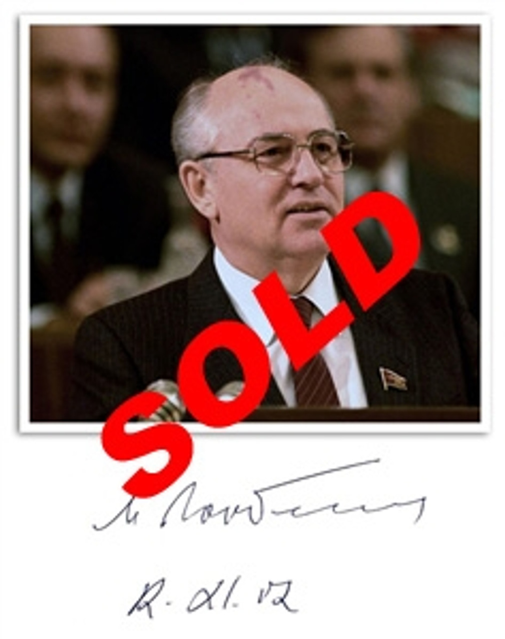 "Mikhail Gorbachev ""Memoirs"" Signed First Edition dj/HC (Fine/Fine), Letter of Authenticity PSA/DNA Certified P01168"