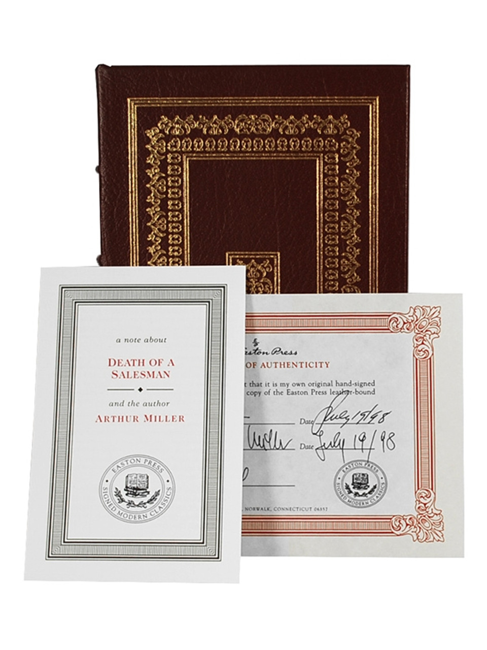 """Signed by Arthur Miller """"Death of a Salesman"""" Easton Press Signed Limited Edition"""