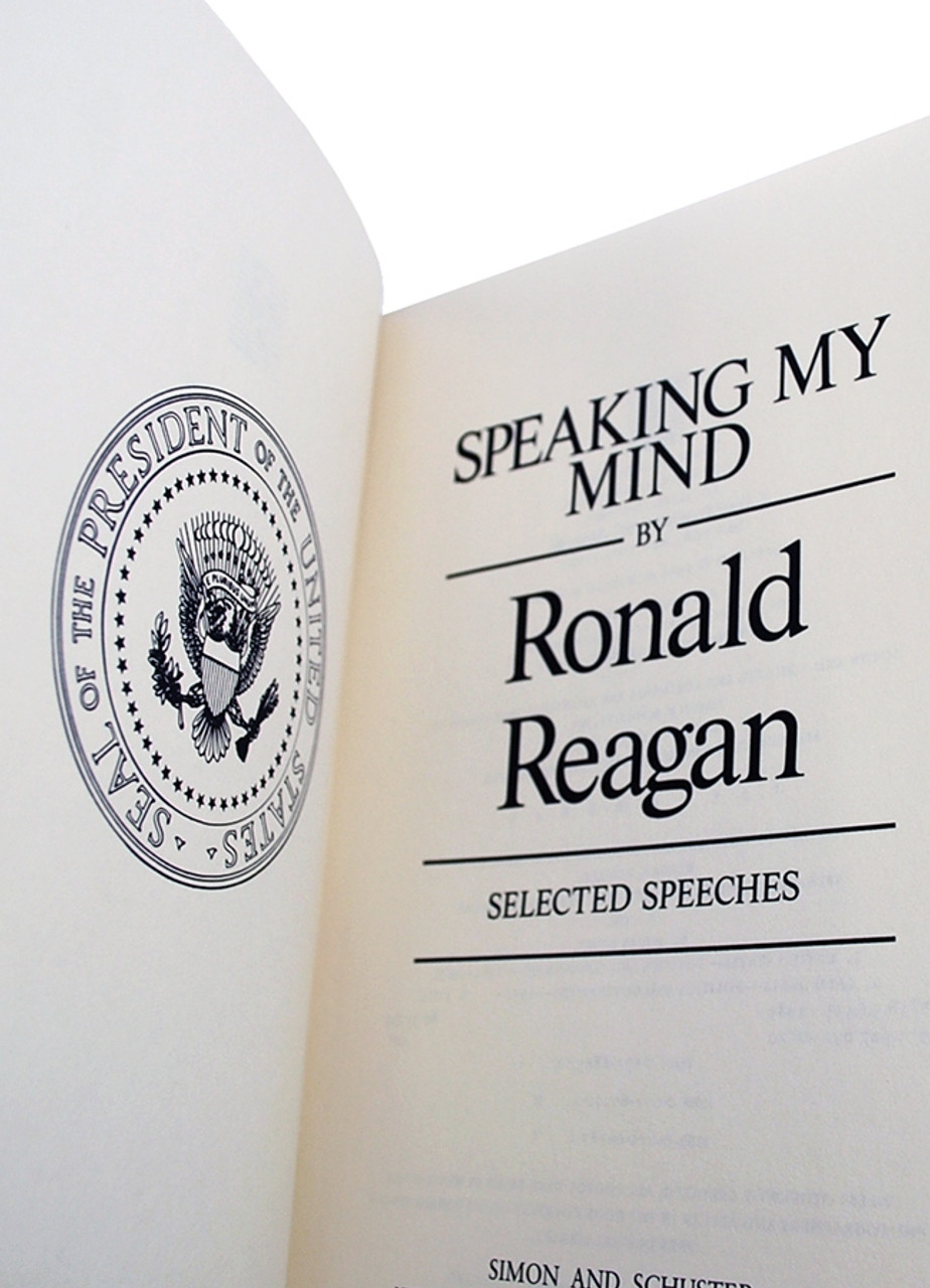 """Easton Press, Ronald Reagan """"Speaking My Mind"""" Signed Limited First Edition (Very Fine)"""
