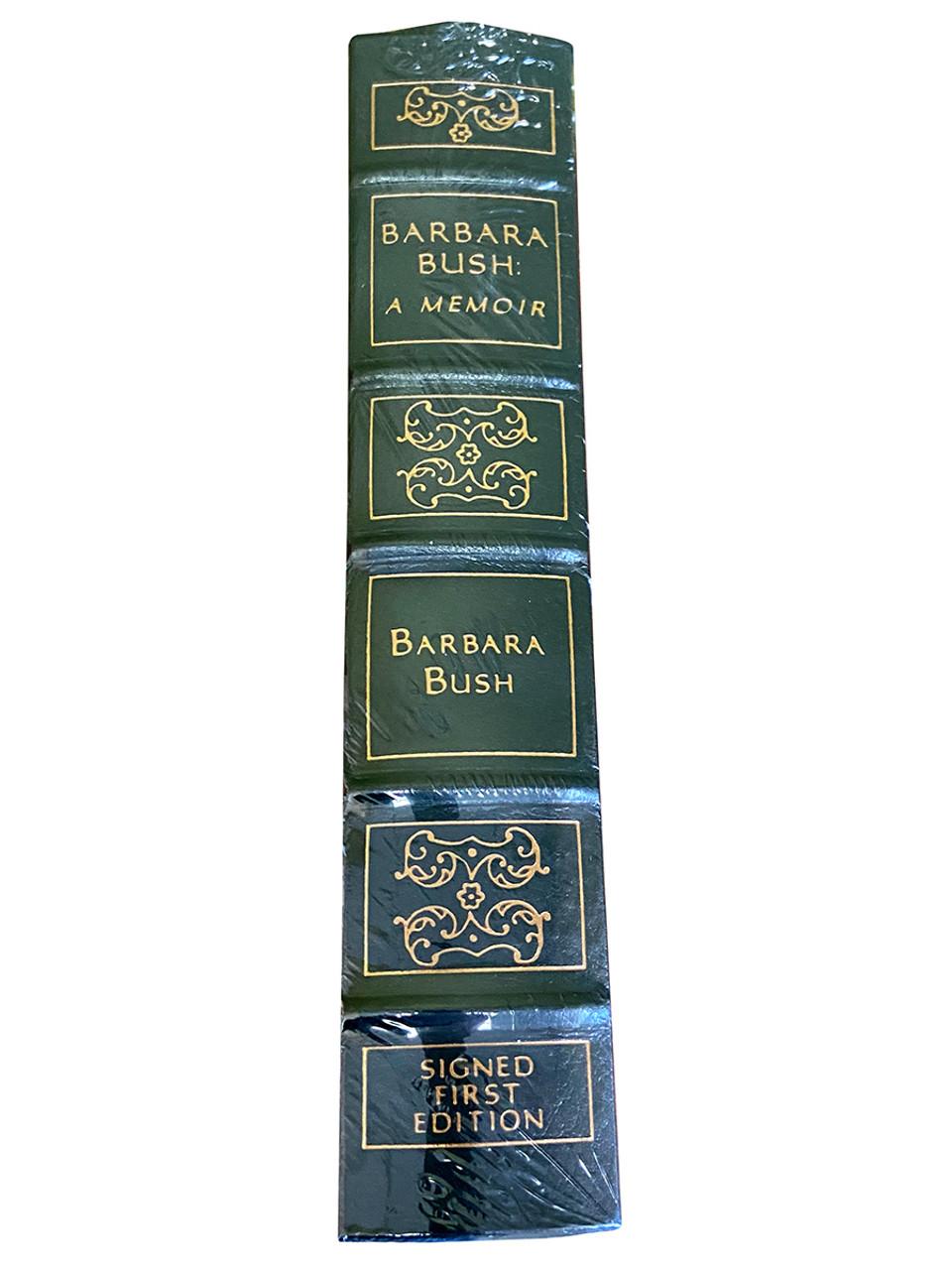 "Barbara Bush ""BARBARA BUSH: A MEMOIR"" Signed First Edition, Leather Bound Collector's Edition [Sealed]"