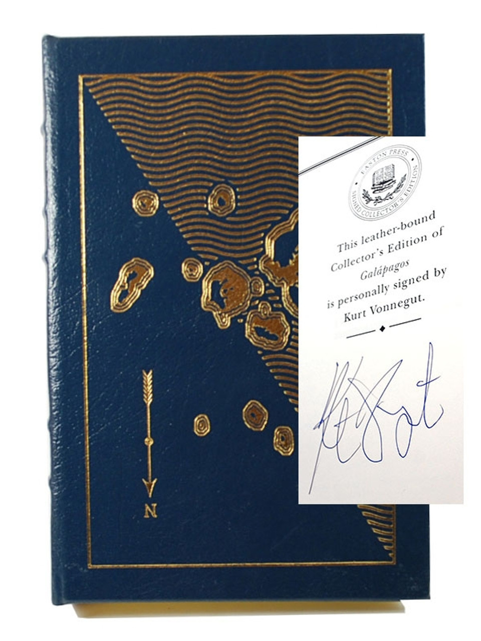 Signed by Vonnegut Galapagos Leather Bound Easton Press