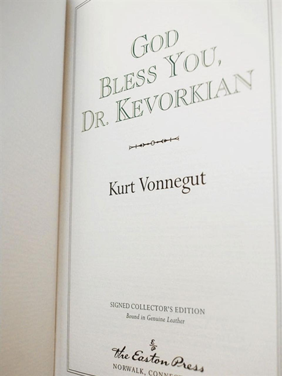 "Easton Press, Kurt Vonnegut ""God Bless You, Dr. Kevorkian"" Signed Limited Edition w/COA (Very Fine)"