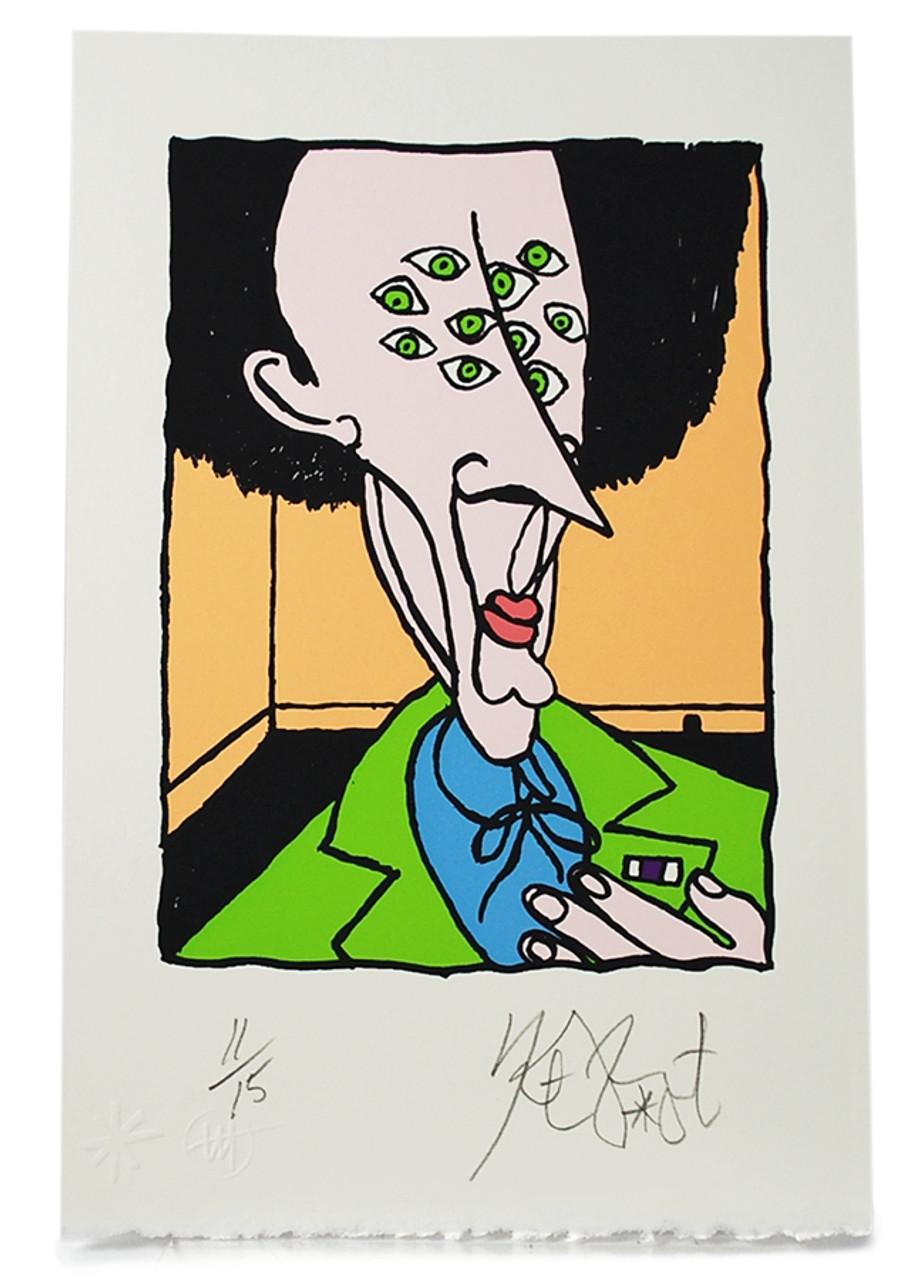 """Kurt Vonnegut """"Purple Heart"""" Signed Limited Edition Art Silkscreen #11/15 [Very Fine]"""