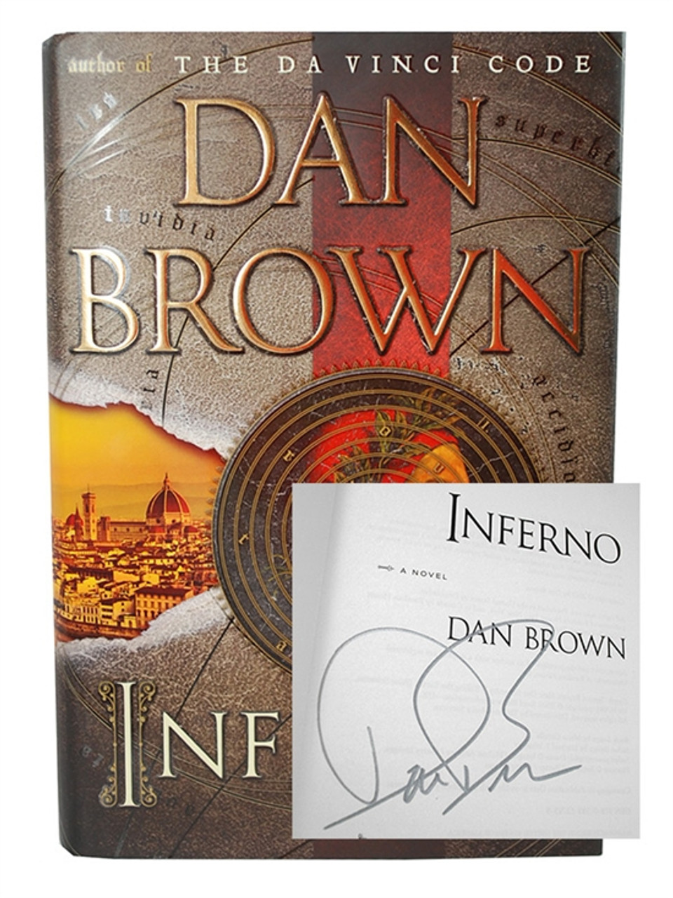 """Dan Brown """"Inferno"""" Signed First Edition Hardcover/dust-jacket [Fine/Fine]"""