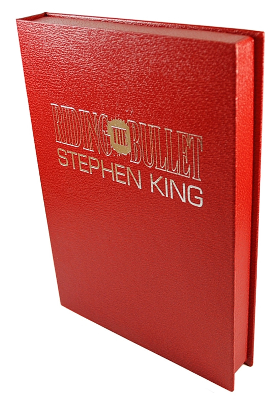 "Stephen King ""Riding The Bullet"" Signed Limited Edition #14 of 500 w/Tray Case(As New)"