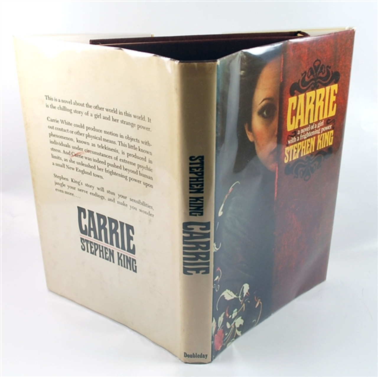 """Stephen King """"Carrie"""" First Edition, First Printing (Fine/Near Fine) w/Leather Bound Case"""