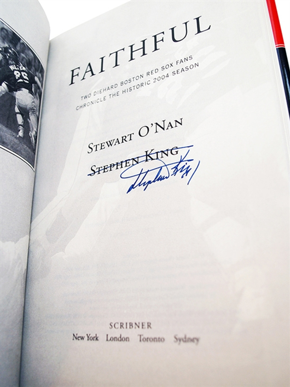 "Stephen King, Stewart O'Nan ""Faithful"" Signed First Edition 1st/1st [Fine/Fine]"