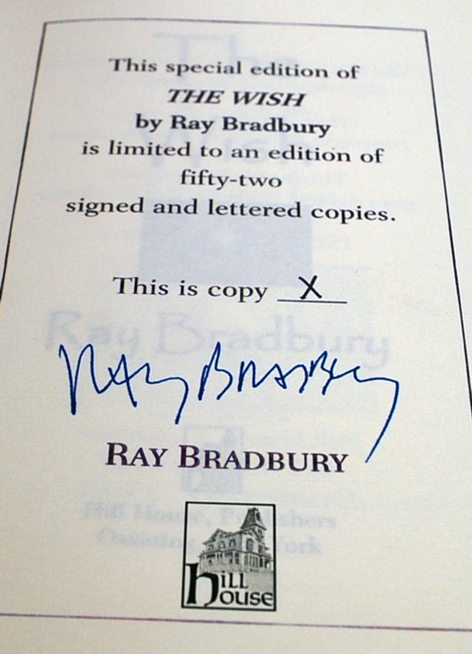 """Ray Bradbury """"The Wish"""" Deluxe Signed Lettered Edition, """"X"""" of 52 [Very Fine]"""