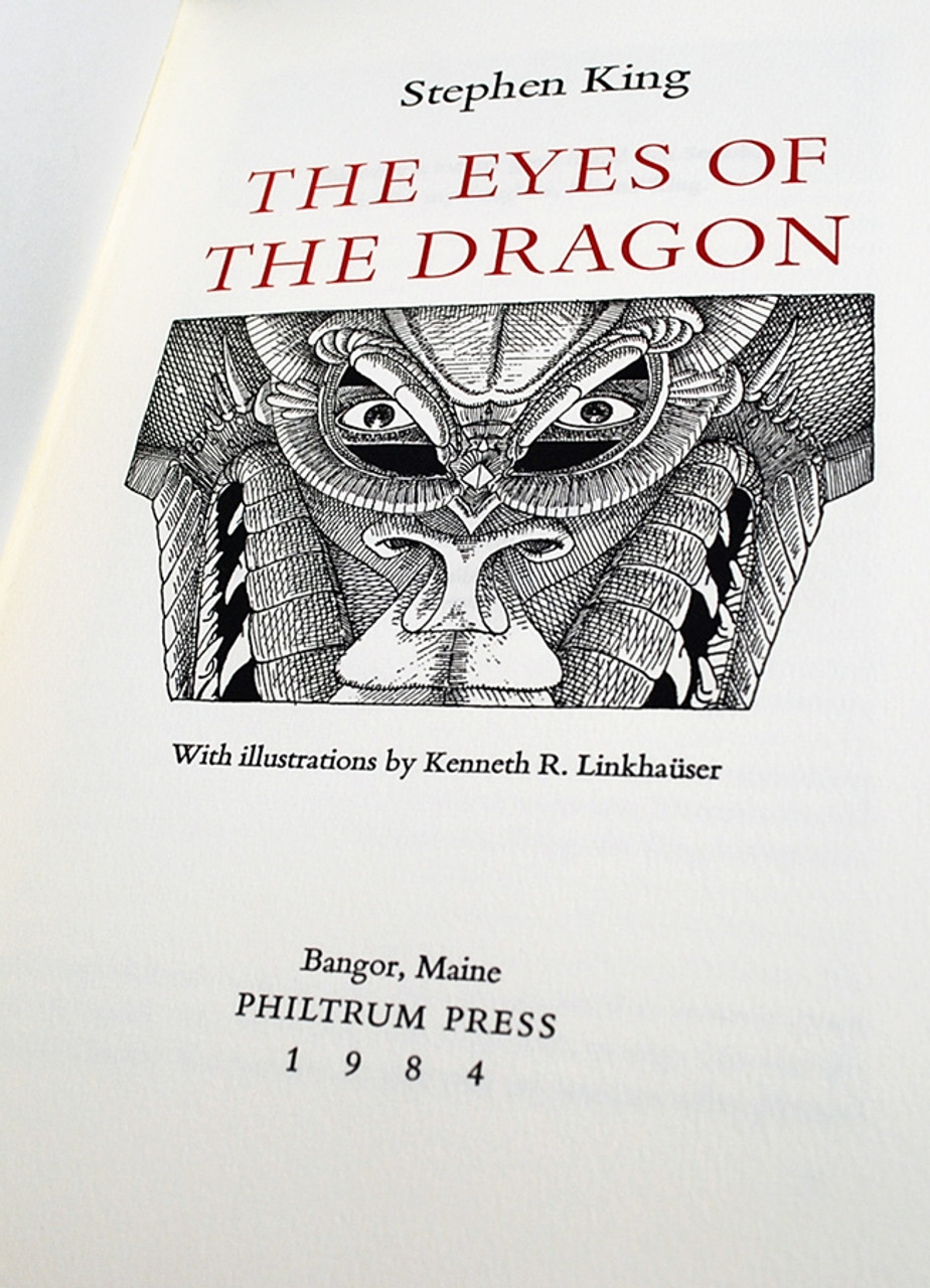 """Stephen King """"The Eyes of the Dragon"""" Signed Limited Edition"""