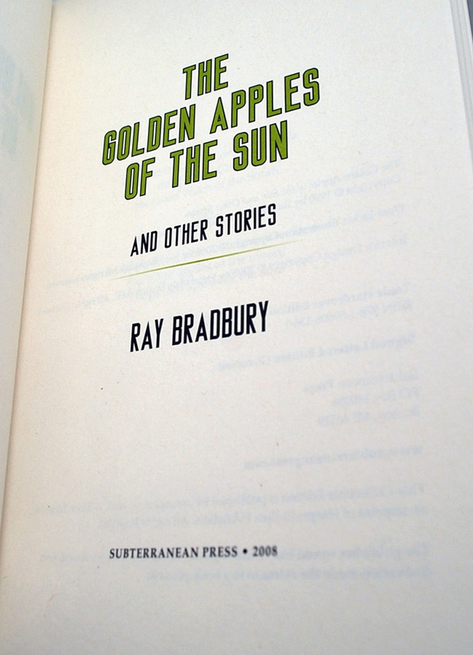 """Ray Bradbury """"The Golden Apples of the Sun"""" Deluxe Signed Lettered Edition, """"L"""" in tray-case [Very Fine]"""