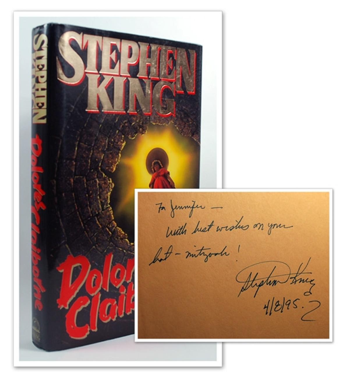 "Stephen King ""Dolores Claiborne"" Signed First Edition, dj/HC Fine/Fine"
