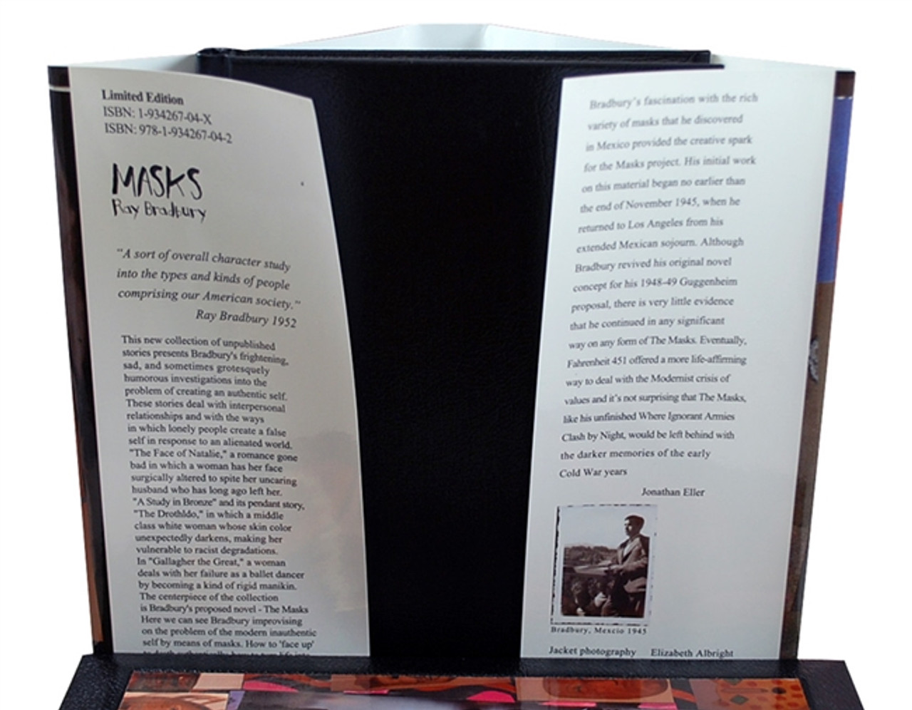 """Ray Bradbury """"MASKS"""" Deluxe Signed Lettered Edition, """"J"""" of 52 in tray-case [Very Fine]"""