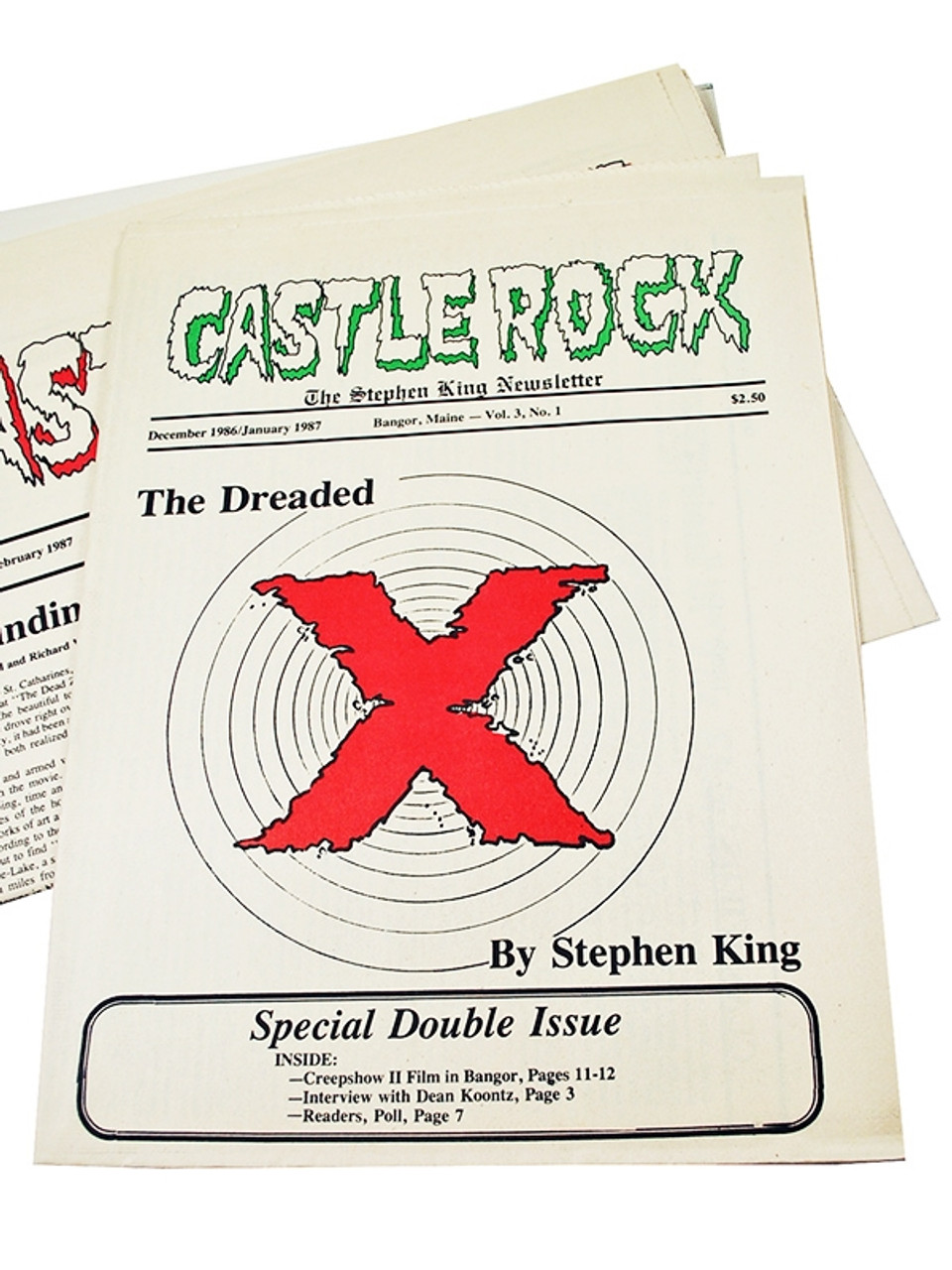 CASTLE ROCK: The Stephen King Newsletter, Complete Set of 55 Issues [Fine]