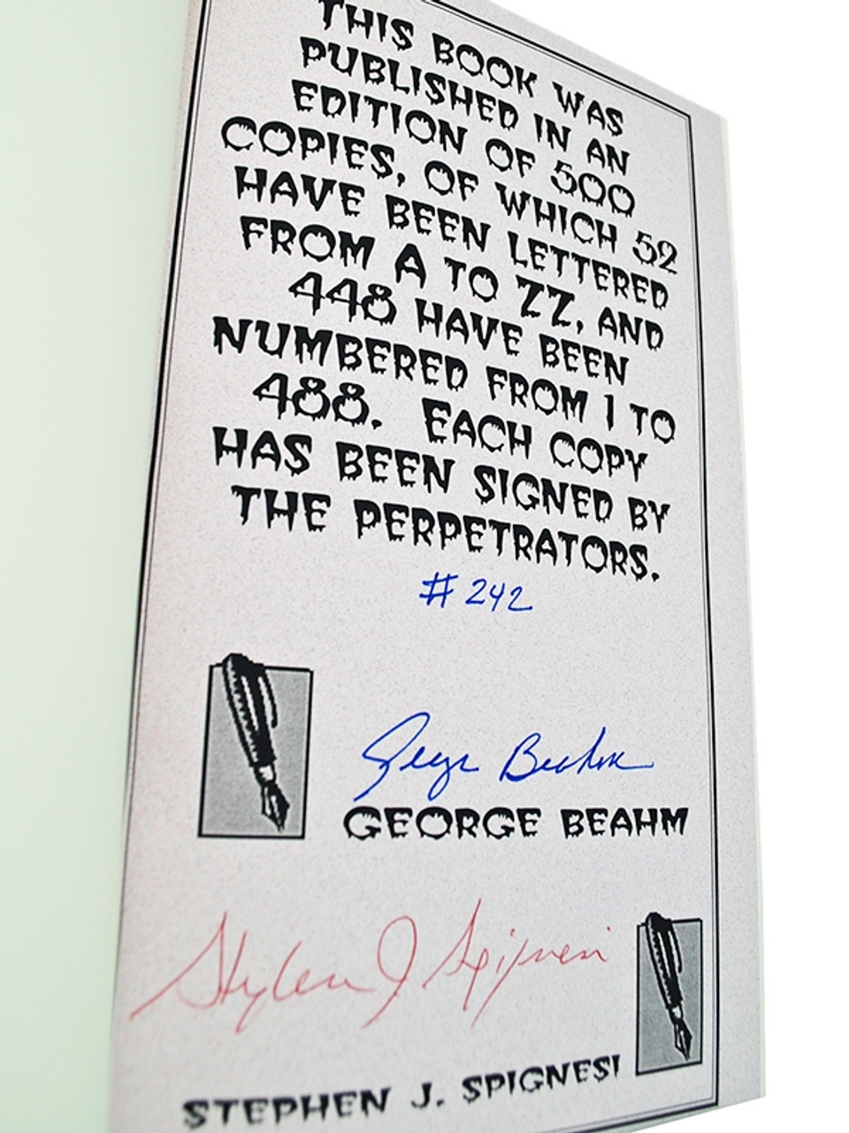 """Andrews McMeel, George Beahm """"Stephen King: America's Best Loved Boogeyman"""" Signed First Edition"""